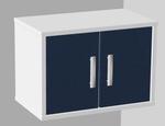 Медицинский навесной шкаф с дверцами, полками (глухие дверцы) 104-002-1