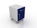 Тумба лабораторная для лабораторного стола с дверцей, вверху один ящик 202-002-2