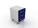 Тумба лабораторная для лабораторного стола с 3-мя ящиками 202-002-3