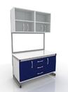 Стол лабораторный с дверцами и подвесными полками 203-002-2, 203-002-5