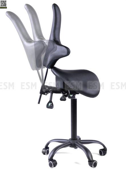 Двойной стул-седло со спинкой EZDuo Back