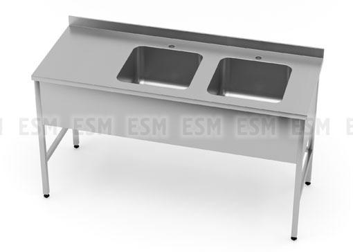 Стол медицинский с двойной мойкой БТ-СМ2