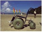 Кресло-коляска повышенной проходимости с колесами низкого давления Hercules