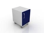 Тумба лабораторная для лабораторного стола с дверцей и полками 202-002-1