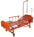 Медицинская кровать Е-8 MM-18Н (2 функции) ЛДСП с полкой и обеденным столиком