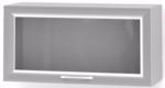 Шкаф медицинский БТ-ШНОс из ДСП в пластике, навесной, подъемная дверка- стекло в алюминиевом профиле